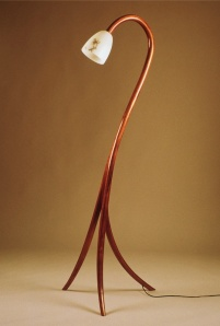 Koa bentwood laminated lamp