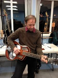 John on guitar