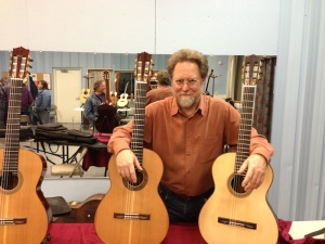 Richard and his guitars