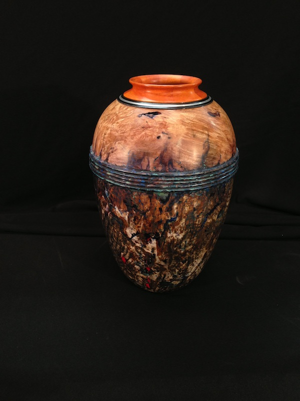 """Desert Urn"""" is the title of this 81/2"""" tall x 51/2"""" diameter hollow ..."""